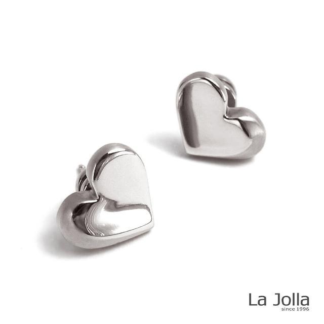 【La Jolla】初戀心情 純鈦耳環(銀色)