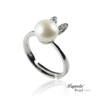 【大東山珠寶】童話彼得兔 純銀晶鑽珍珠戒指(時尚珍珠)