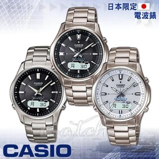【CASIO卡西歐】日本內銷款 電波 太陽能 鈦金屬錶帶男錶(LCW-M100TD)