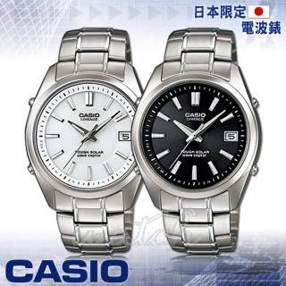 【CASIO 卡西歐】日本內銷款_電波_鈦金屬錶帶_無機玻璃鏡面_防水男錶(LIW-130TDJ)