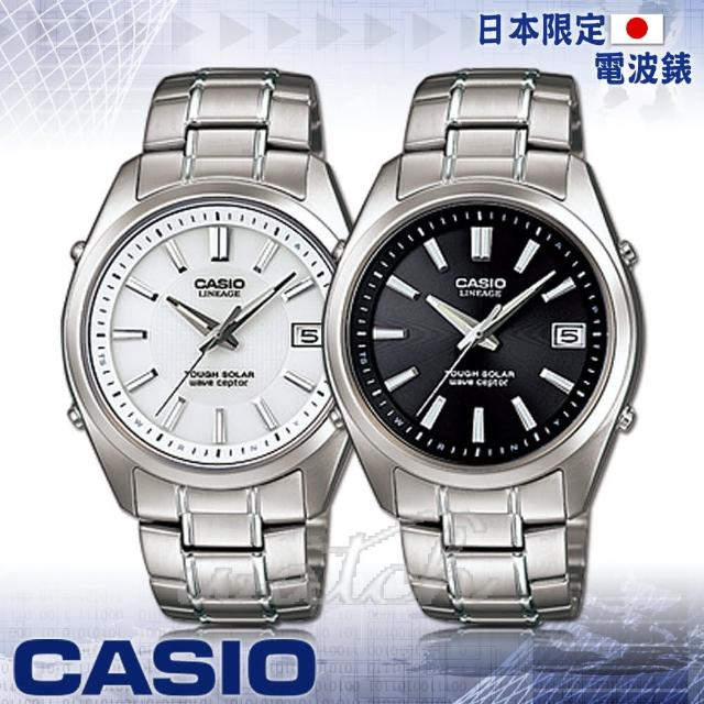 【CASIO 卡西歐】日本內銷款 電波 鈦金屬錶帶 無機玻璃鏡面 防水男錶(LIW-130TDJ)