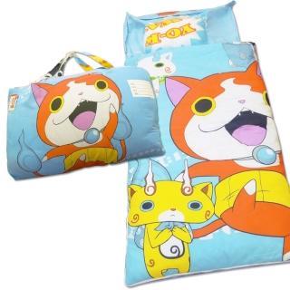 【BabyTiger虎兒寶】卡通造型幼教兒童睡袋-妖怪手錶-吉胖喵喵 睡袋(睡袋 妖怪手錶 吉胖喵)