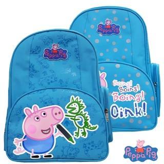 【Peppa Pig 粉紅豬/佩佩豬】佩佩豬-喬治護脊書包302C(恐龍款/氣球款 PP-5746)
