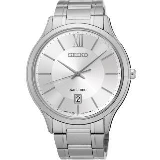 【SEIKO】城市簡約美學時尚腕錶-銀/42mm(7N42-0GG0S SGEH51P1)