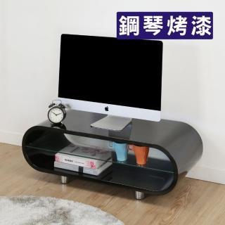 【BuyJM】曲線造型鋼琴烤漆電視櫃/寬95公分