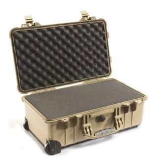 【美國 PELICAN】1510 氣密箱 登機箱 含輪座(沙漠黃)