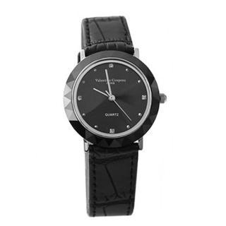 【范倫鐵諾˙古柏】簡約刻度珍珠貝面真皮腕錶 多角度切割手錶