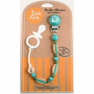 【Bink Link】時尚繽紛串珠奶嘴鍊夾 - 湖水藍  Surfs Up(103)