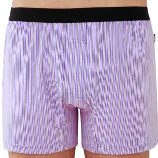 【SOLIS】百搭條紋系列M-XXL竹碳纖維合身四角褲(雲雀紫)/