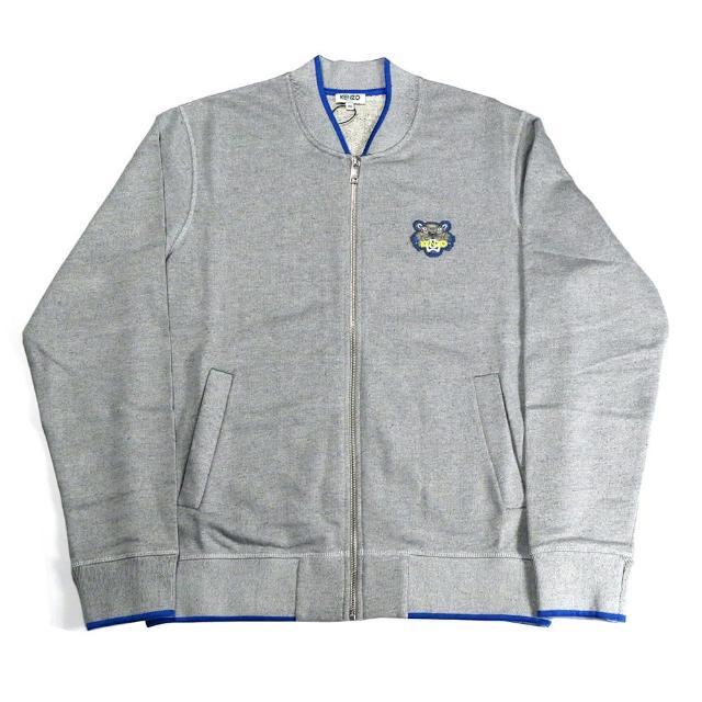 【KENZO】Jacket MAN 拉鍊夾克(灰)