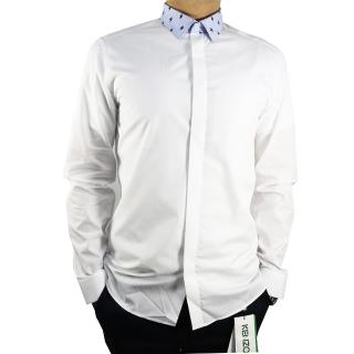 【KENZO】藍領長袖襯衫(白)