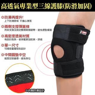【DIBOTE】CNOSS 可調式三線彈性透氣護膝-加強防護型(2入)