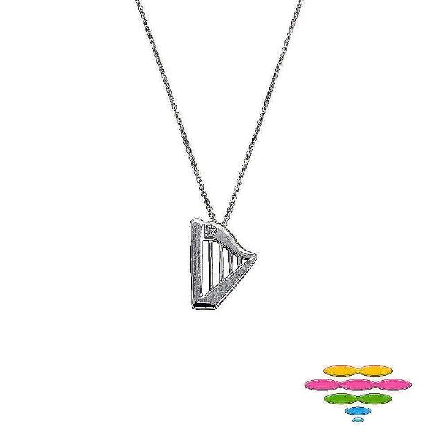 【彩糖鑽工坊】幸福樂章 Happiness 鑽石項鍊(CL-PD179 豎琴 10K)