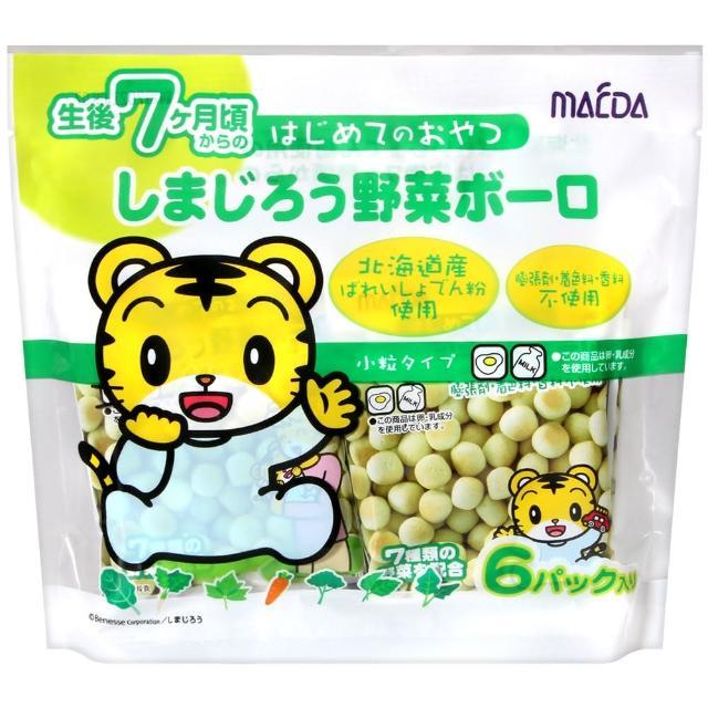 【大阪前田製果】小老虎蛋酥-蔬菜(72g)