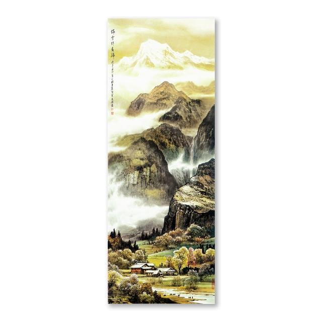 【雙11限定】橙品油畫布-單聯油畫無框藝術複製掛畫流行家飾30x80cm(SS0032)