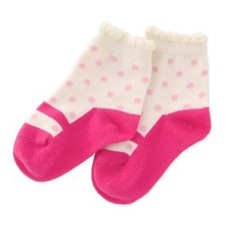 【日本 Nishiki】止滑嬰兒襪1雙入 - 桃紅點點瑪莉珍(P9303)