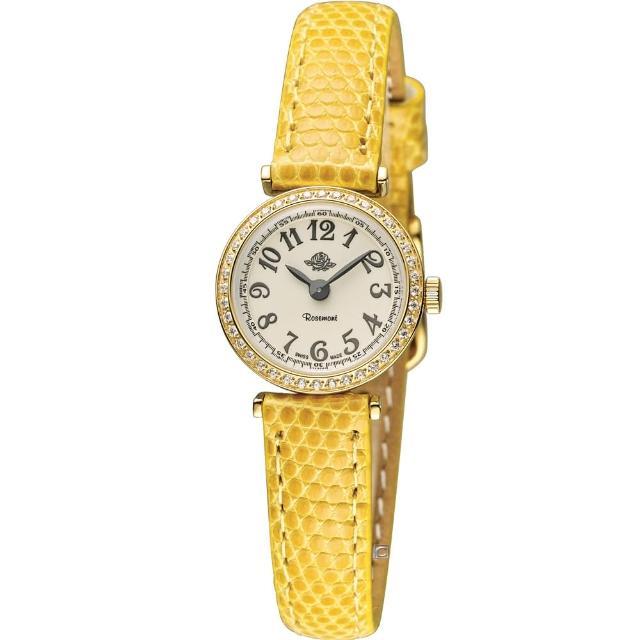 【玫瑰錶 Rosemont】茶香玫瑰系列超薄時尚錶(TRS10-01-YE)