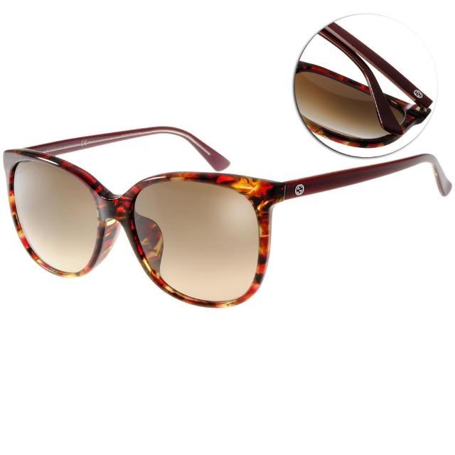 【GUCCI太陽眼鏡】迷人貓眼款(紅琥珀#GG3754FS 17RCC)