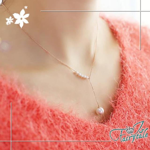【伊飾童話】純白繞頸*珍珠伸縮項鍊