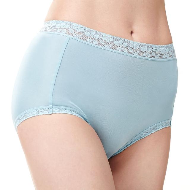 【矜蘭妃】100%蠶絲42針高密度高腰三角內褲(湖水綠)