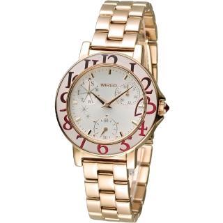 【WIRED F】團團風格東京時尚腕錶(VD76-KD70G AP5026X1)