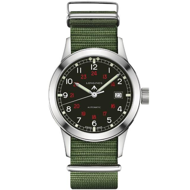 【LONGINES】Heritage Military COSD復刻軍事機械錶(L28324535)