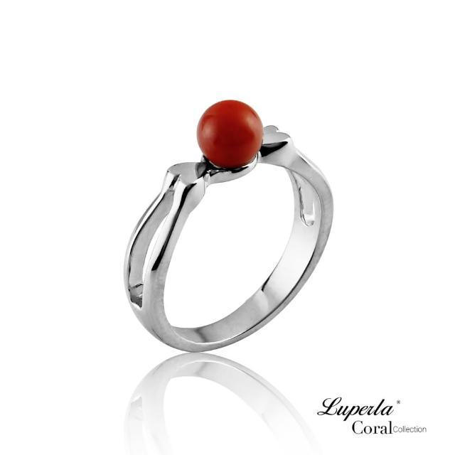 【大東山珠寶】雙雙對對全紅珊瑚純銀戒指(天然全紅沙丁珊瑚)