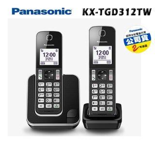 【Panasonic 國際牌】KX-TGD312 TW DECT雙子機中文數位無線電話(贈環保筷)