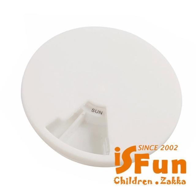 【iSFun】7 Way 星期 透視圓型藥盒(2入)