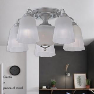 【光的魔法師 Magic Light】嘉年華半吸頂五燈 安全燈具  (簡約白)