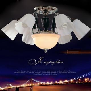 【光的魔法師 Magic Light】鐵木真半吸頂六燈 (安全燈具)