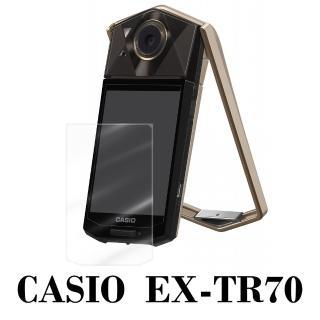 ~D A~CASIO EXILIM EX~TR70 原膜HC螢幕保護貼^(鏡面抗刮^)