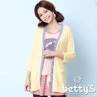 【betty's貝蒂思】美式插畫設計三件式上衣(黃粉色)