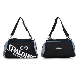 【SPALDING】二顆裝休閒兩用袋-斯伯丁 籃球 手提袋 收納袋 行李袋 黑白藍(SPB5311N91)