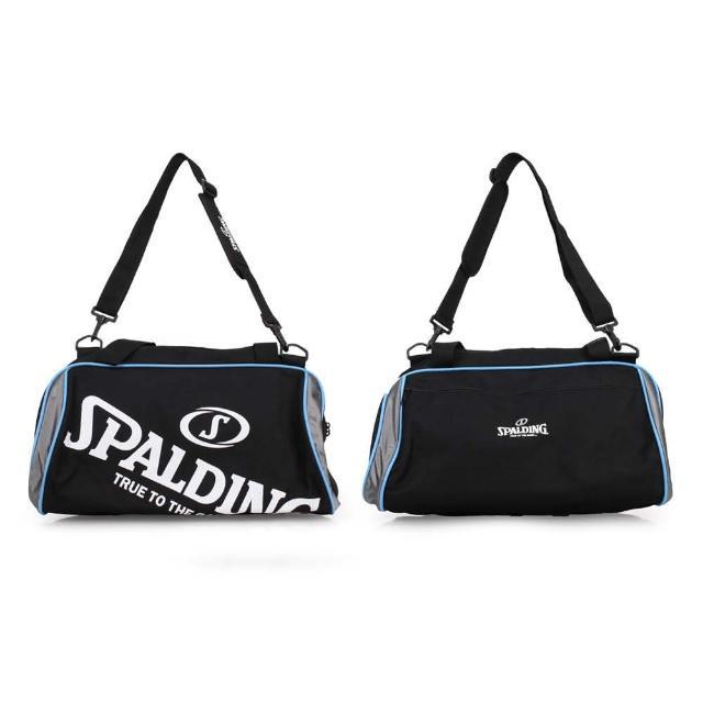 【SPALDING】二顆裝休閒兩用袋-斯伯丁 籃球 手提袋 收納袋 行李袋(黑白藍)