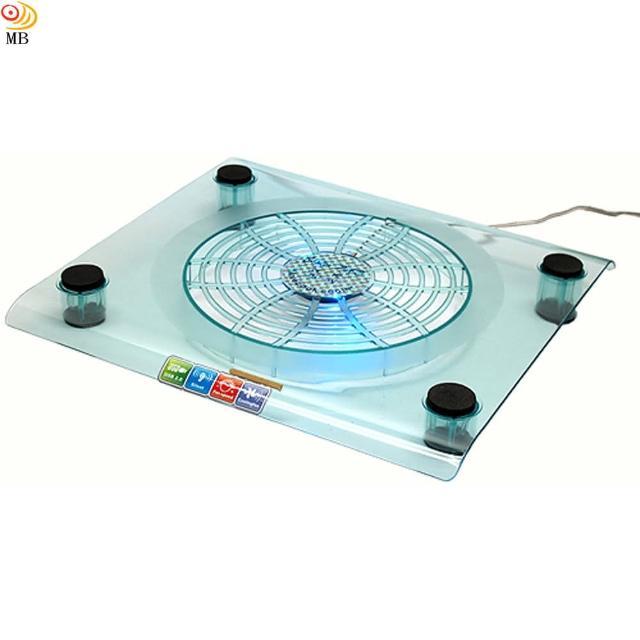 【月陽】冷酷藍色LED筆電超大風扇散熱座(NCP-08)
