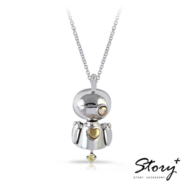 【STORY ACCESSORY】機器人項鍊 迷你版-Sweety(機器人 女款純銀項鍊)
