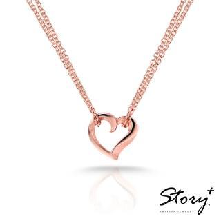 【STORY ACCESSORY】簡單的心-純銀項鍊(玫瑰金)