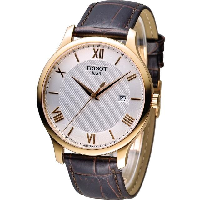 【天梭 TISSOT】Tradition系列 懷舊古典時尚腕錶(T0636103603800)
