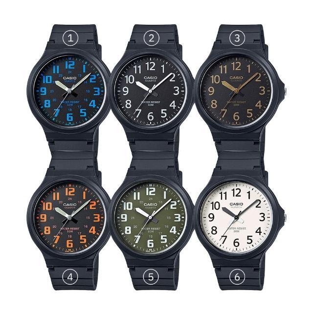 【CASIO 卡西歐】大鏡面4.3公分學生錶 業務 中性錶 男錶 女錶(MW-240)