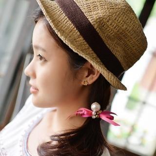 【梨花HaNA】韓國進口緞帶小蝴蝶結飾物髮圈