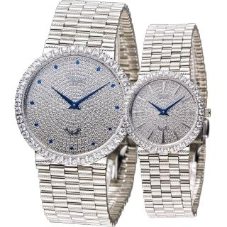 【Ogival 愛其華】愛的宣言晶鑽對錶(377MW 377LW)