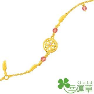 【幸運草clover gold】愛的捕夢網 水晶+黃金 手鍊