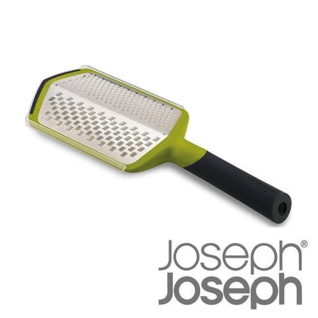 【Joseph Joseph 英國創意設計餐廚】可調式粗細刨絲器-綠(附兩用收納盒)