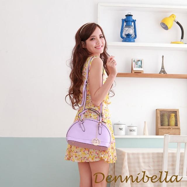 【Dennibella 丹妮貝拉】真皮斜背貝殼包-紫(4D1716009023)