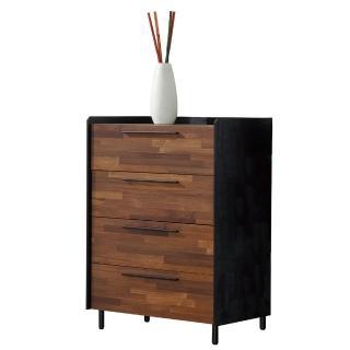 【AT HOME】畢卡索雙色四抽收納櫃/斗櫃