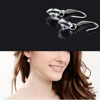 【梨花HaNA】韓國925銀垂綴時分美好單鑽勾式耳環