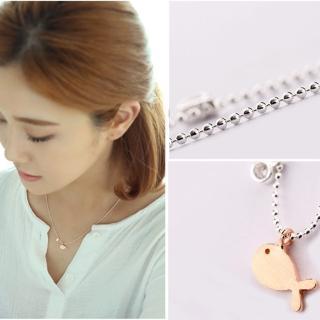 【梨花HaNA】韓國韓國小魚兒點鑽925銀極細鎖骨鍊項鍊精裝
