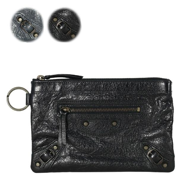 【BALENCIAGA】小釦手拿大型零錢包萬用袋_展示品(2色)