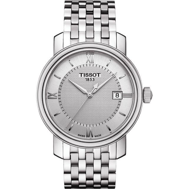 【TISSOT】Bridgeport 寶環系列經典石英腕錶-銀/40mm(T0974101103800)